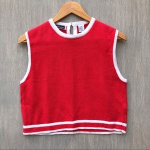 NWT vtg 90s deadstock sweater crop top pink L